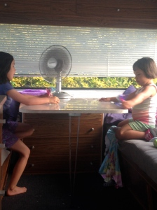 Cooling off in the cool caravan
