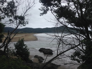 Hicks Bay on a cloudy summer evening